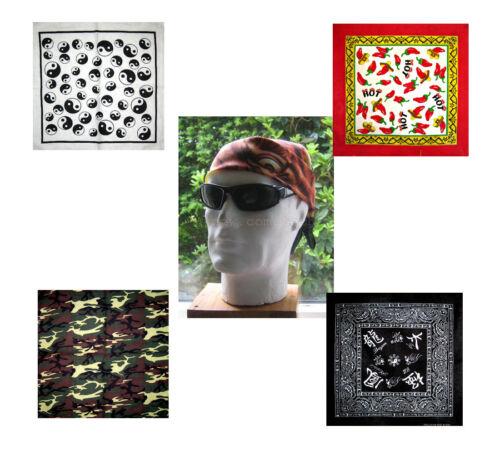 "Patterned Bandanas 21/"" Multiple Choice of Patterns"