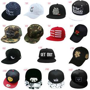 2eb95c5c667 Women Men  s Bboy Brim Adjustable Baseball Cap Snapback Hip-Hop Hat ...