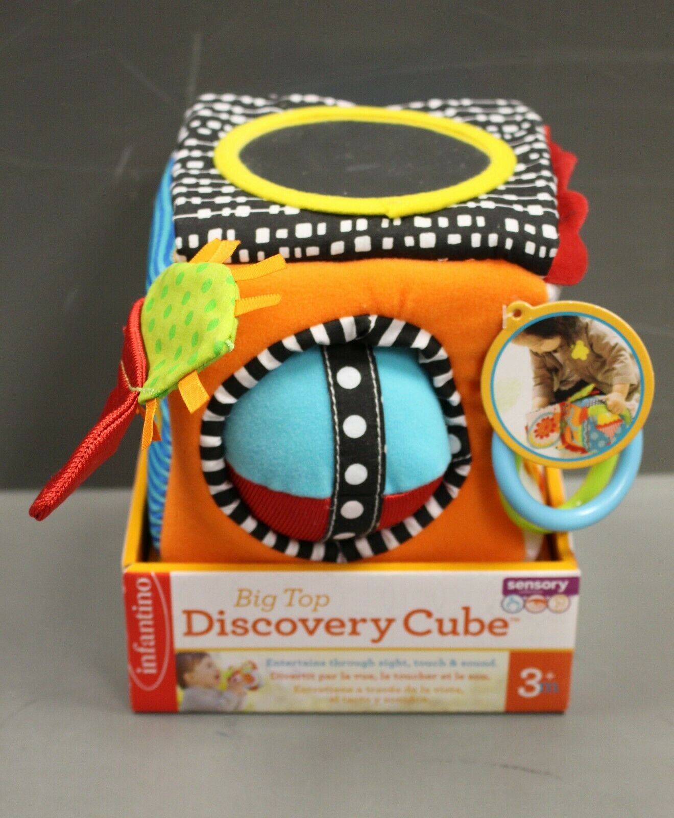 Infantino Big Top Discovery Cube Development Toy