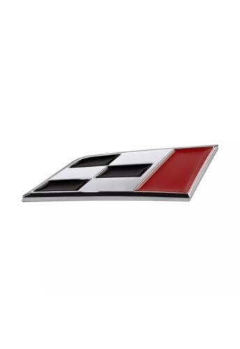 ADHESIVE Cupra R Race Flag Trunk Badge Seat Leon Ibiza Chrome Boot Emblem Uk