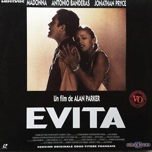 EVITA-WS-VO-ST-PAL-LASERDISC-Madonna-Jonathan-Pryce-Antonio-Banderas