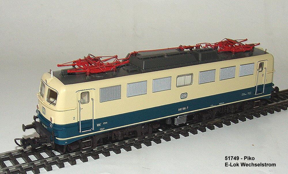 Piko 51749 - E-Lok Br 140 con Verschleißpufferbohle -ac - Mfx Adatto Nuovo