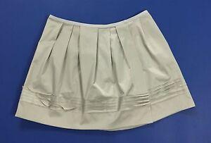 Massimo-Rebecchi-gonna-minigonna-w30-tg-44-usato-grigia-donna-skirt-pieghe-T1891