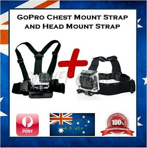 GoPro Hero 6 / 5 / 4 / 3+ Session Chest Harness & Head Strap Mount Go Pro Chesty
