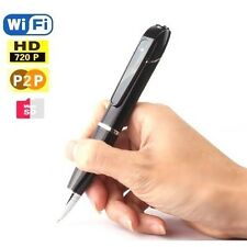FULL HD 720p WIRELESS P2P WiFi IP SPY CAMERA in BALLPOINT PEN for iOS / ANDROID