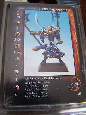 Confrontation Griffin Cairn L'apostolo (inglese Carte) Warhammer Sacerdote Guerriero-mostra Il Titolo Originale Valore Eccezionale