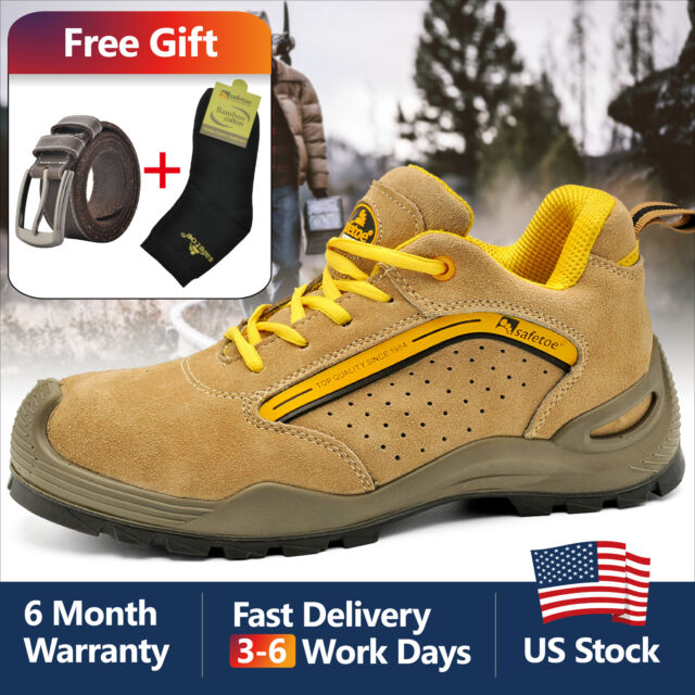 86c96c7b85c Safetoe Safety Shoes Mens Work Steel Toe Breathable Lightweight Yellow US  Size