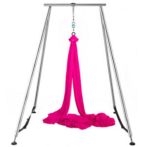 Aerial-Stand-Yoga-Swing-Stand-Portable-Fitness-Frame-Indoor-w-6M-Aerial-Hommock