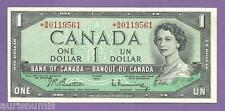 [AN] QEII Canada $1 1954 Star REPLACEMENT UNC