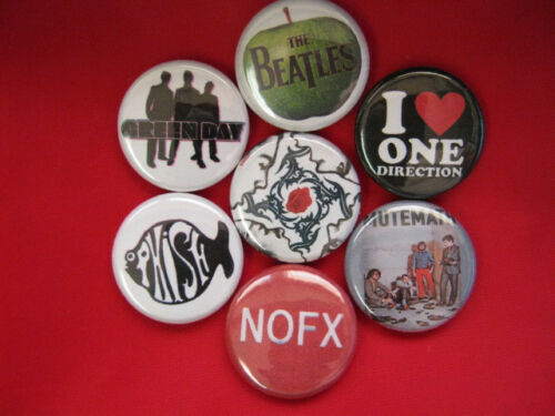 Mutemath Beatles  New NOFX ONE DIRECTION 7-1in buttons badges Green Day