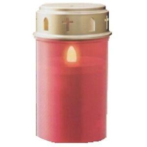 Dauer-Grablicht-LED-Batterie-Deckel-rot-Dauerlicht-Teelicht-Grab-Kerze