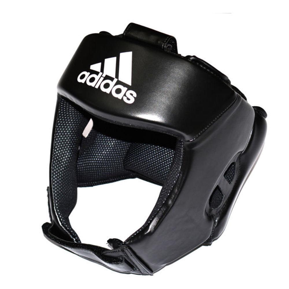 ADIDAS MONDIALI stile BOXING BOXING BOXING Head Guard Nero Open Face HEADGUARD 4aaf1c