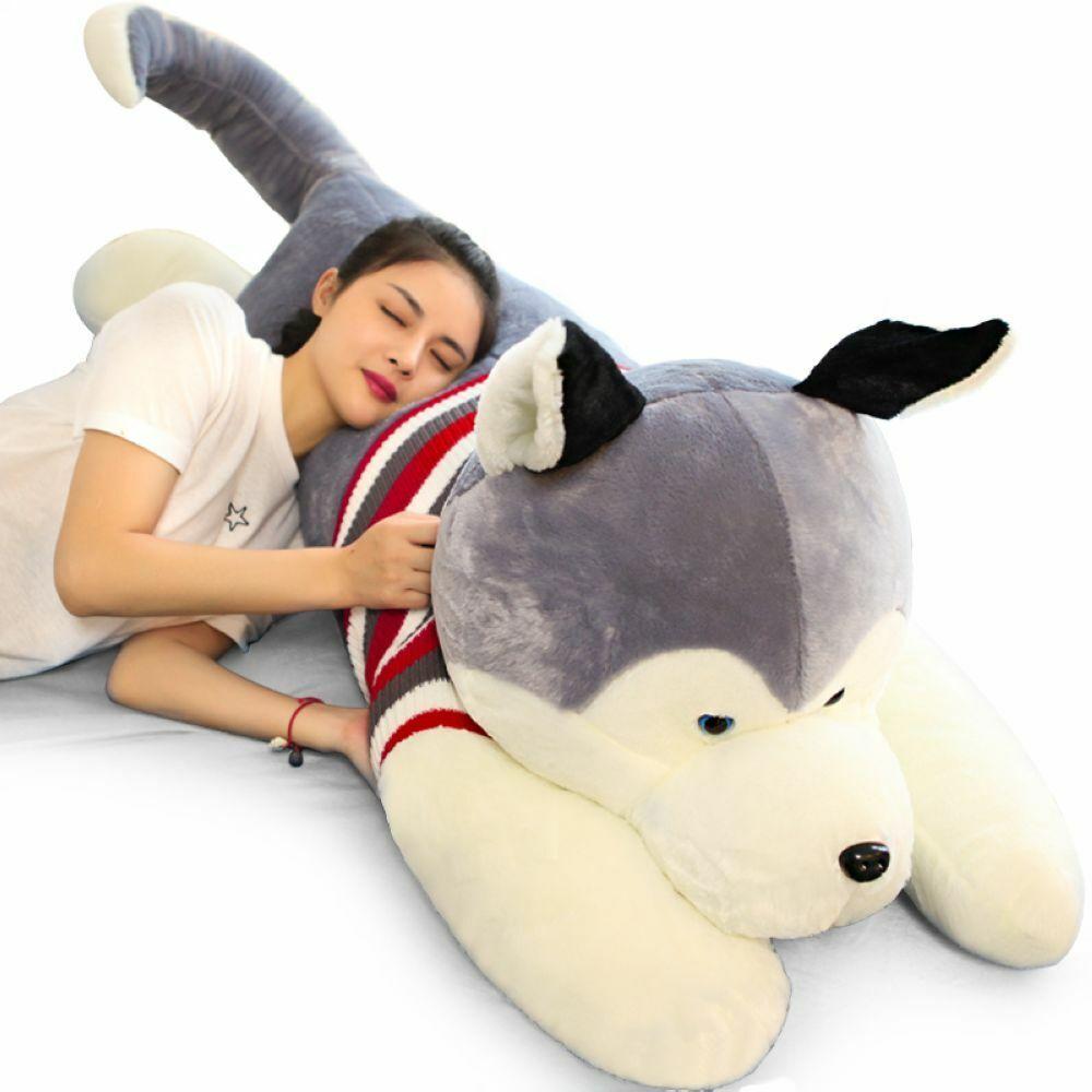 Fancytrader JUMBO 59'' Giant Plush Stuffed Husky Dog Toy Animal Doll 4 Sizes