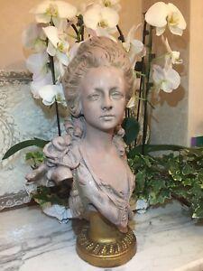 Rare-buste-de-Marie-Antoinette-en-terre-cuite-par-Anton-Nelson-Art-Nouveau