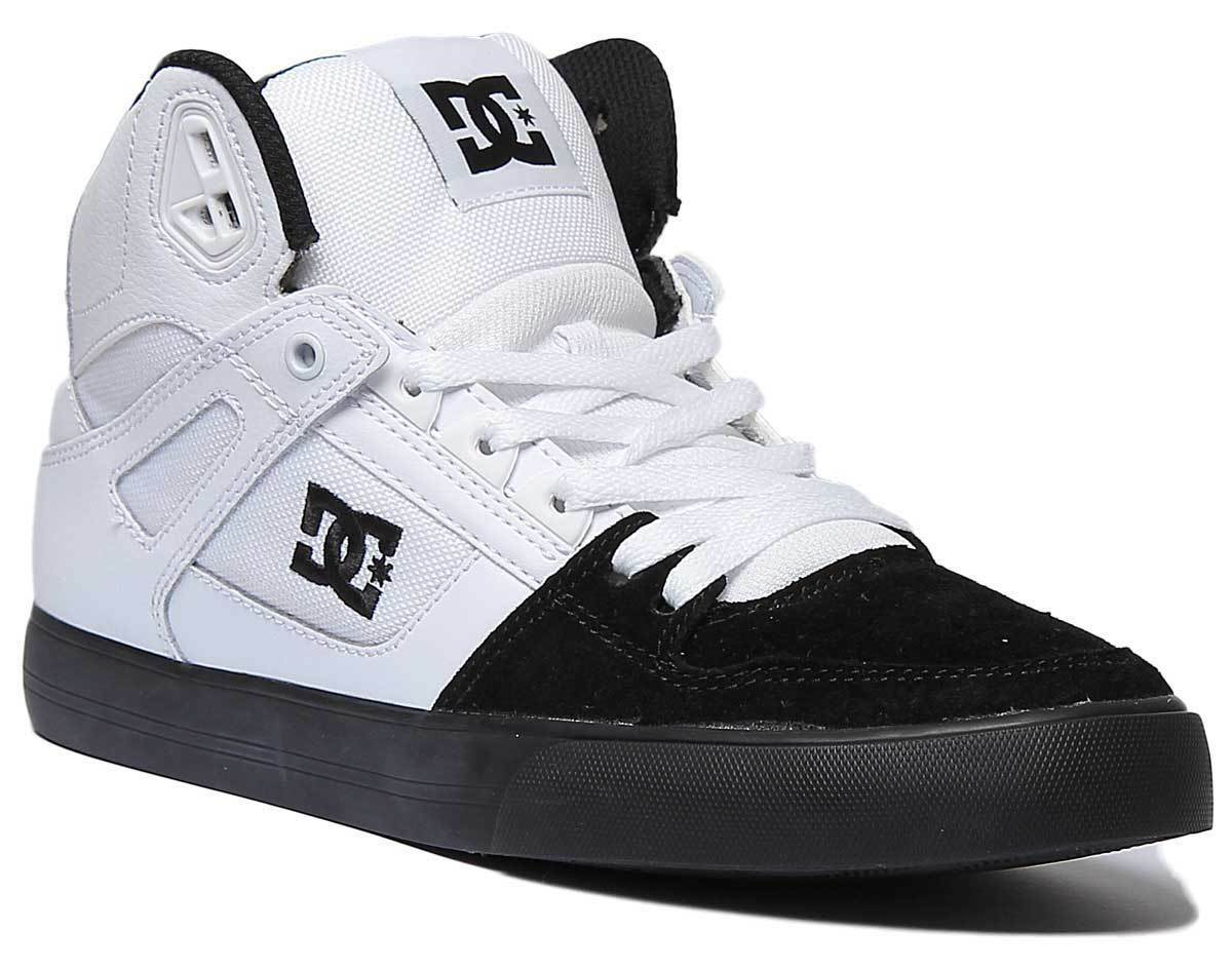 DC scarpe scarpe scarpe Pure High Top Donna in Pelle Mesh Bianco Nero scarpe da ginnastica alte taglia 98add3