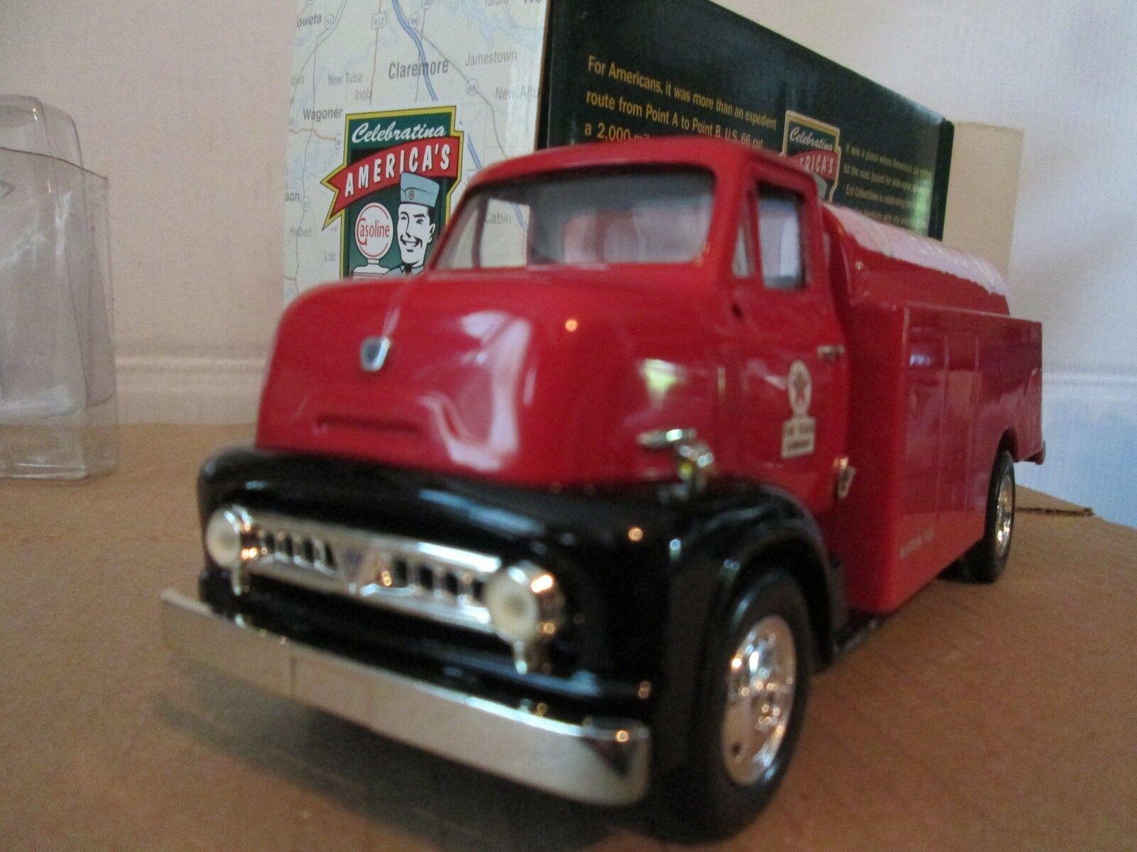 1953 Ford cabina sobre motor C600 Texaco camión 1 30 Ertl Vintage entrega Audio Video petrolero del combustible