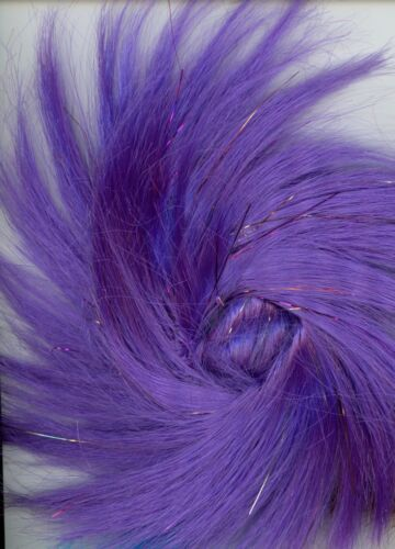 """Hair Swirl Pony Tail Accent Tinsel Accents 4/"""" L Synthetic Neon in U.S B-6-32"""