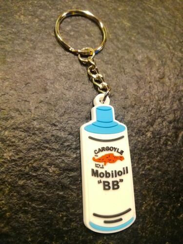 **Schlüsselanhänger PVC Esso u Gargoyle Mobiloil  Oldtimer Tankstelle  Öldose**