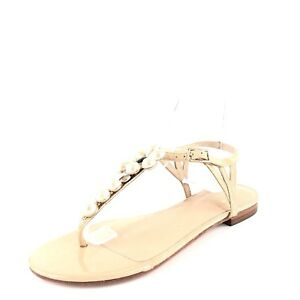91b5f585ad89a8 New Kate Spade Shelby Beige Patent Leather Flats Sandals Women s ...