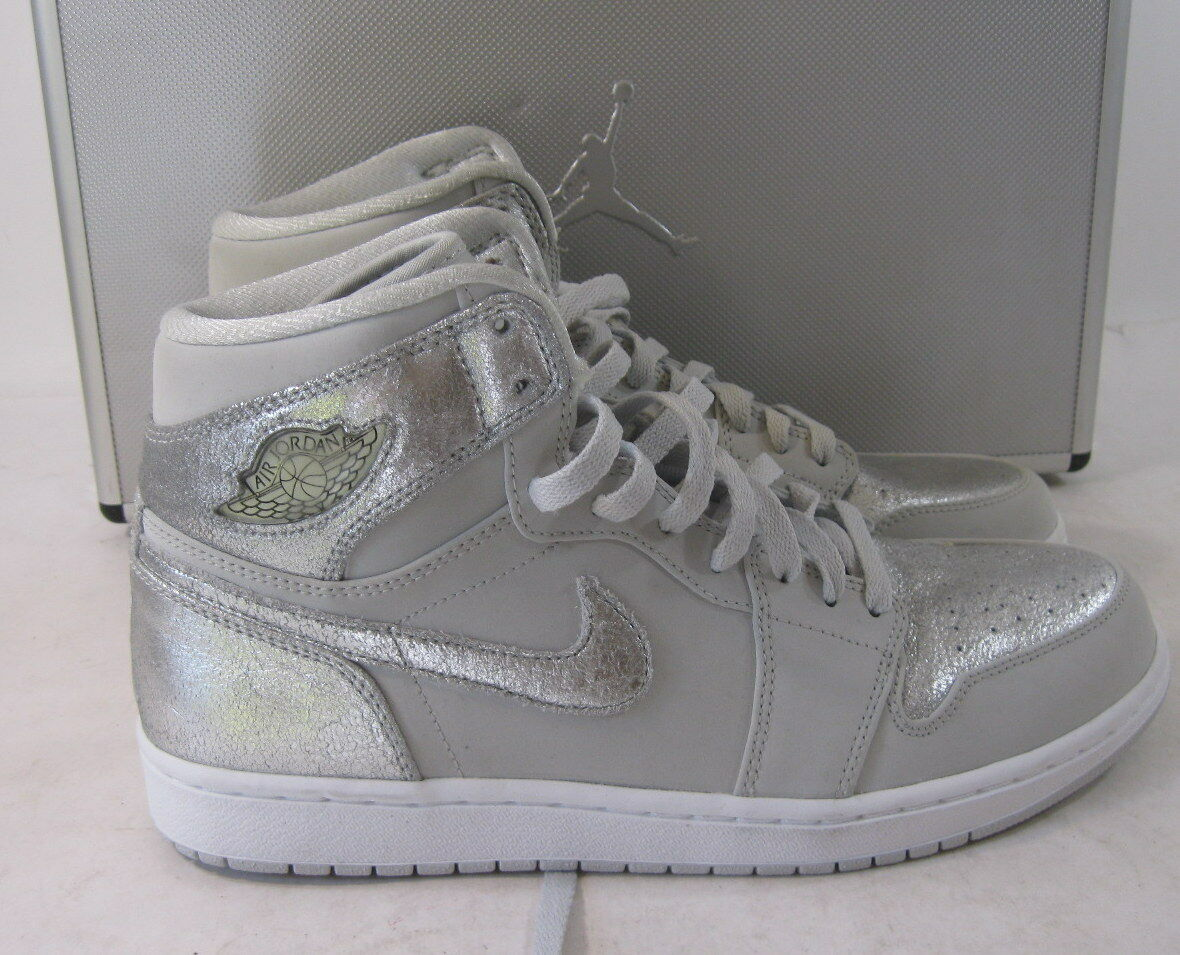 2018 Air Jordan 1 Retro Hi Silver 25th Anniversary 396009 001 Size 11.5