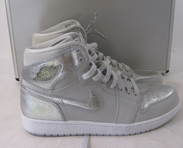 promo code 126f1 cdd1f 2009 Air Jordan 1 Retro Hi Silver 25th Anniversary 396009 001 Size 11.5