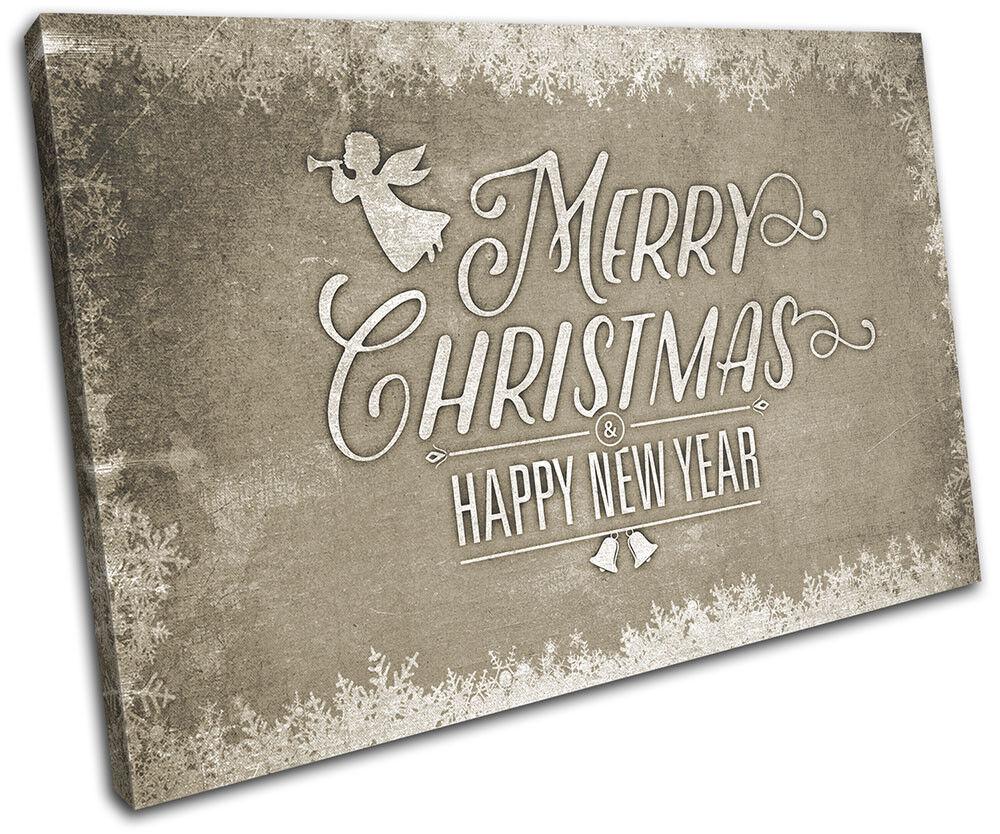 Christmas Decoration Wall Canvas ART Print XMAS XMAS XMAS Picture Gift Chalk 09 Cream Chri fe08c0