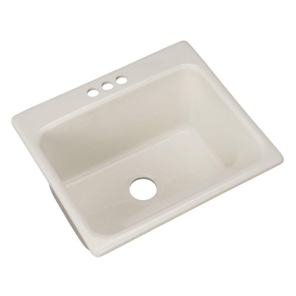 Kensington Drop In 25 3 Hole Single Bowl Utility Sink Undermount Acrylic White For Sale Online
