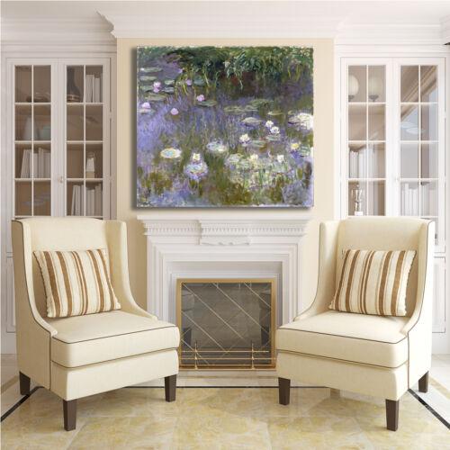 Monet ninfee 68 design quadro stampa tela dipinto telaio arredo casa