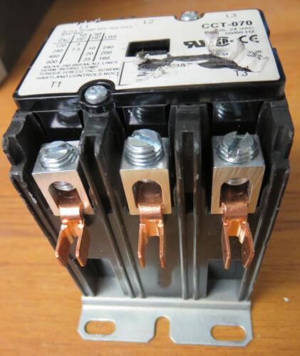 Hartland Controls HCC-3XQ04CG128 Contactor 3 Pole 24 VAC Coil