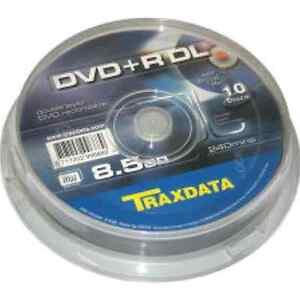 Dvd R doble capa 8x Traxdata tarrina 10 UDS Riteks04