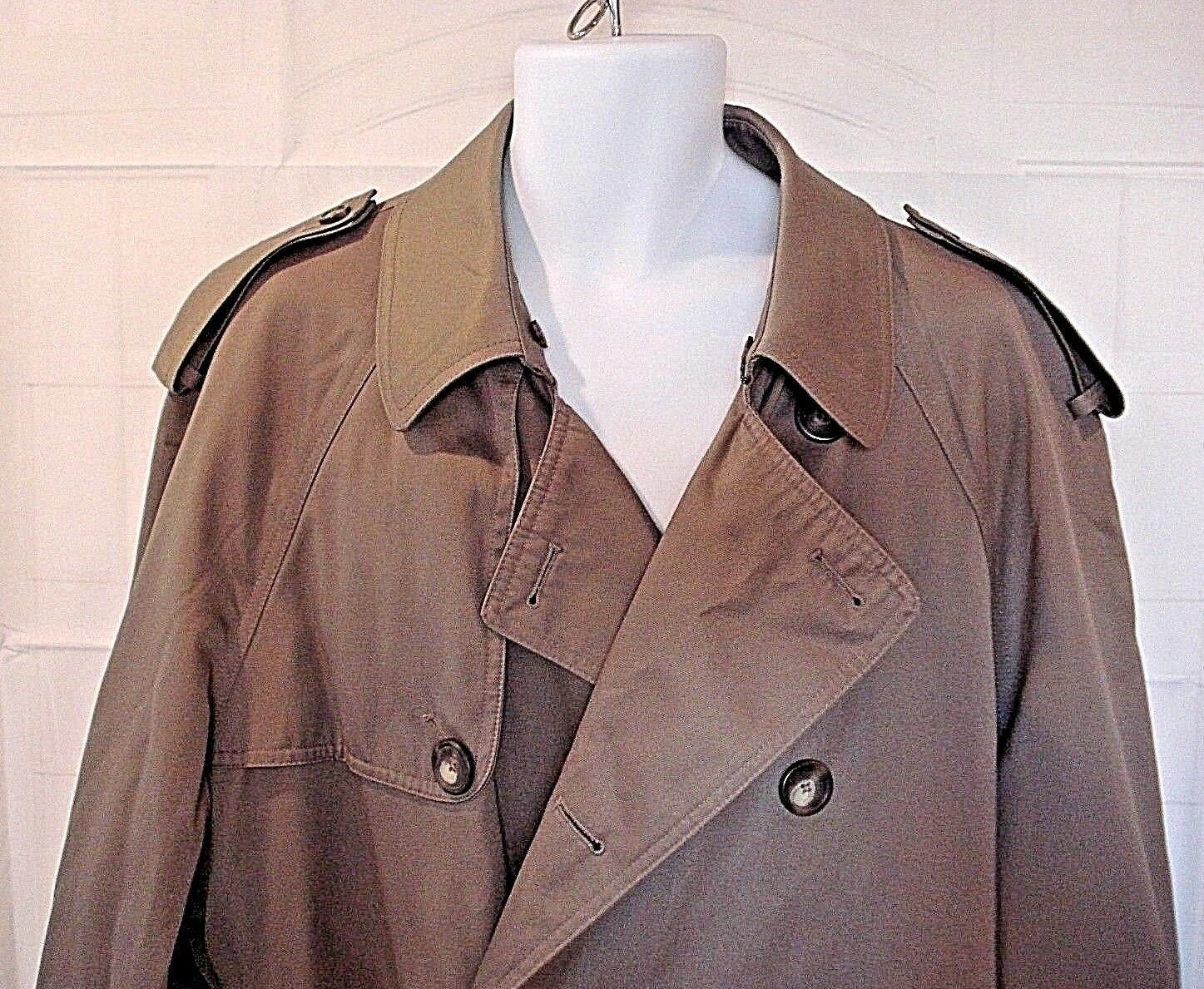 Ralph Lauren Grün Label  Herren Removable Liner Belted Trench Coat 42L
