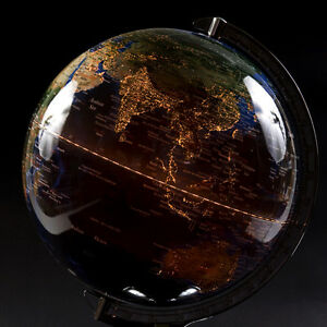 Image Is Loading Table Top Lighted Globe Lamp Desktop World Decor