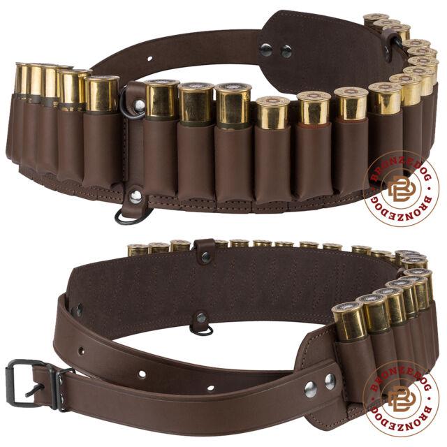 Hunting 56 Rounds Shotgun Shell Bandolier Belt Ammo Holder for 12GA 20GA 16GA