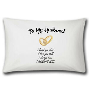 Image Is Loading To My Husband Pillow Case Wedding Gift Anniversary