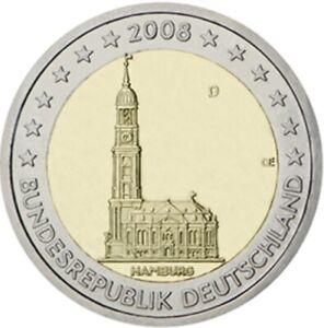 2 EURO COMMÉMORATIVE D'ALLEMAGNE 2008 D - HAMBOURG