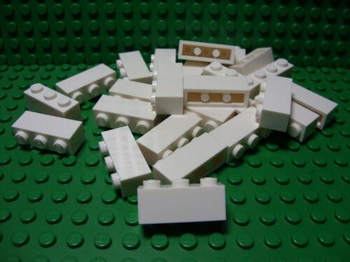 ** 25 CT LOT **  Lego NEW white 1 x 3 standard bricks   Lot of 25