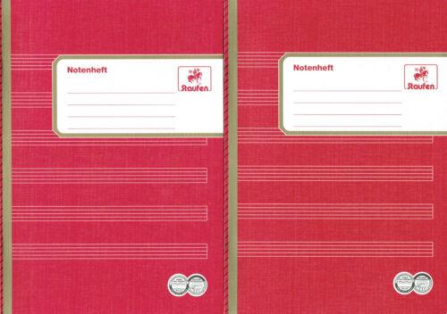 6 Notensystemen 2 Schulhefte Notenheft hochformat DIN A5 8 Blatt Schul-heft m