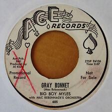 BIG BOY MYLES / DR. JOHN - NEW ORLEANS b/w GRAY BONNET - ACE - PROMO 45 - 1960