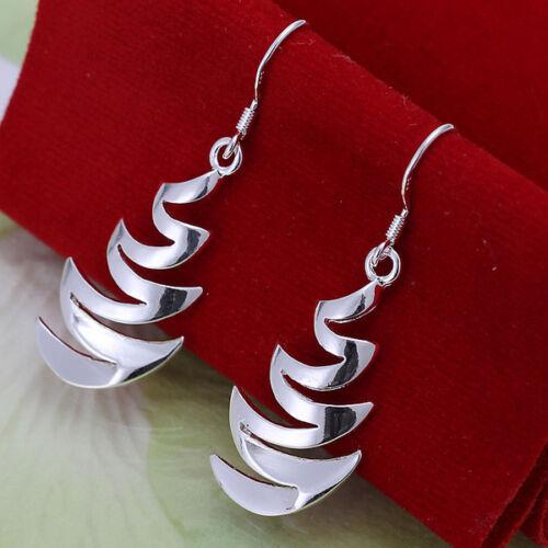 Damen Ohrring Ohrhänger geschwungen Ohrstecker pl mit Sterlingsilber DO203 T::A