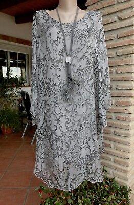 Italy Tunika Lang Kleid Lagenlook Seide Boho Ethno Insein ...