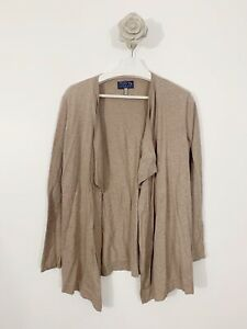 Joules-Knitwear-Waterfall-Cardigan-Oatmeal-Size-12-Casual-Occasion