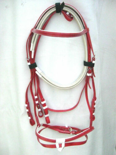 Matching Reins Snaffle Bridle Biothane Red Colours