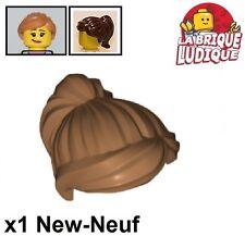 Lego 1x Minifig Haare Frisur Hair Glatt Medium Dark Flesh 92081 Neu