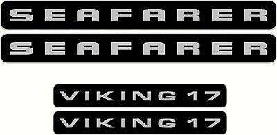 SEAFARER VIKING 17 Decals 2 @ 460 x 50mm 2 @ 290 x 40mm Black with Silver Trim