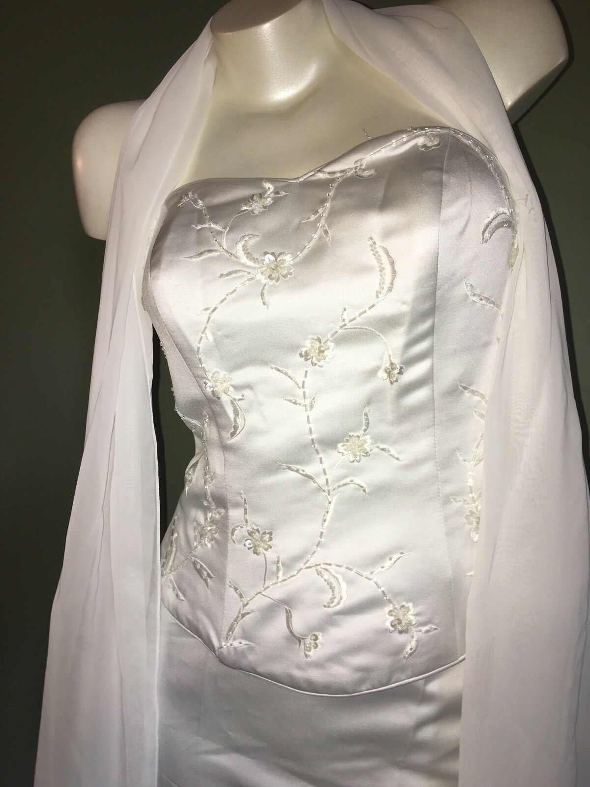 NWT~Beautiful~Milano~ Ivory Strapless Bustier Corset Top~Sz 22~&~More Sizes