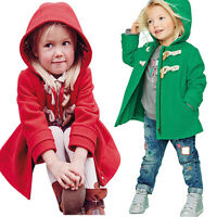 Baby Girl Coat Child Kids Thick Jacket Warm Winter Hooded Snowsuit Outerwear UK