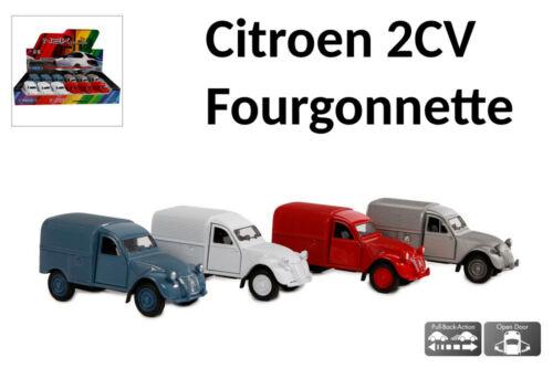 1:34 = 11,5 cm silber WELLY Citroen 2CV Fourgonnette Modellauto Spritzguss ca