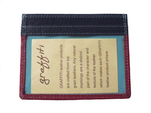 Colourful Slim Double Sided Quality Leather Credit Card /& ID Holder Golunski 149