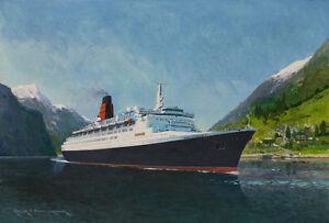 QE Queen Elizabeth Cunard Ocean Liner Norway Cruise Ship - Cruise ship norway