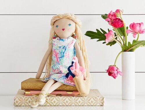 LITTLE LILLY DESIGNER DOLL LILLY PULITZER POTTERY BARN KIDS IN HAND!!